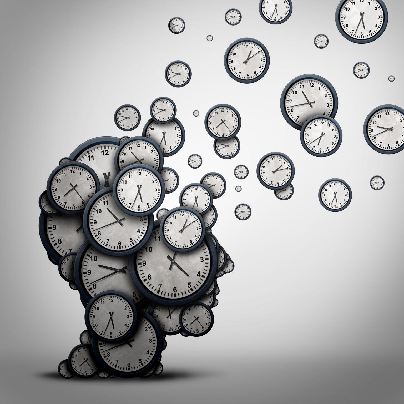 Uhren in Form eines Kopf